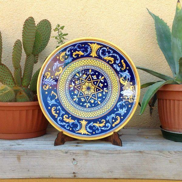 piatto-ceramica-blu-stella-1