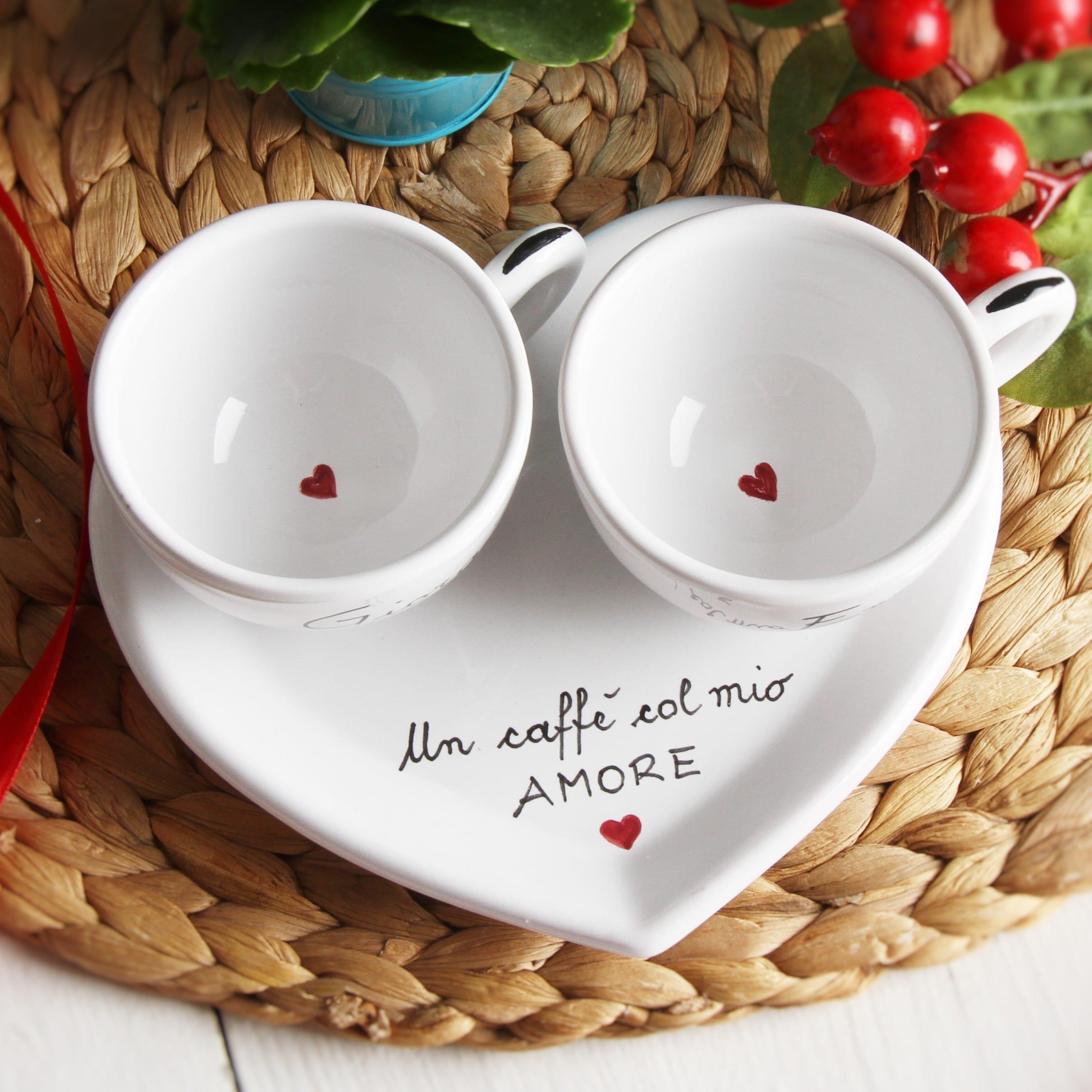 Set da caff o t cappuccino personalizzato lui e lei con - Immagini innamorati a letto ...