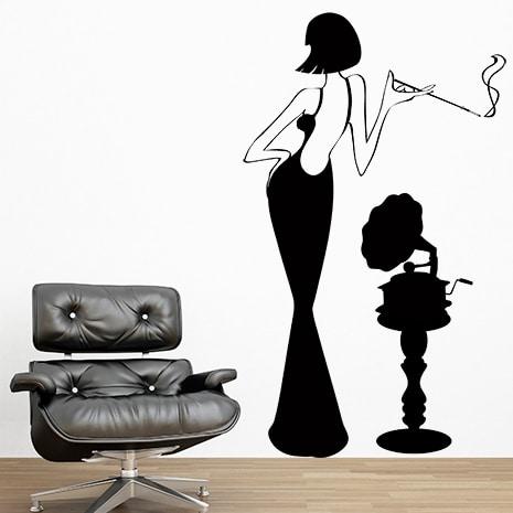 adesivi-murali_Donna-e-gramofono_grande