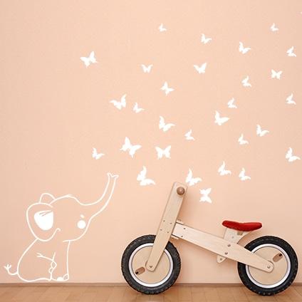adesivi-murali_Elefantino-e-farfalle_grande