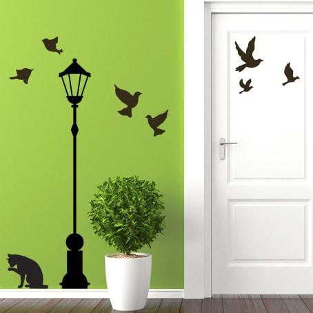 adesivi-murali_Lampione-e-animali_grande