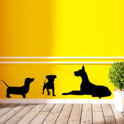 adesivi-murali_Silhouette-di-3-cani_grande