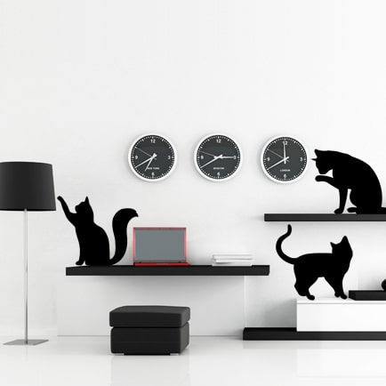 adesivi-murali_Silhouette-di-gatti-simpatici_grande
