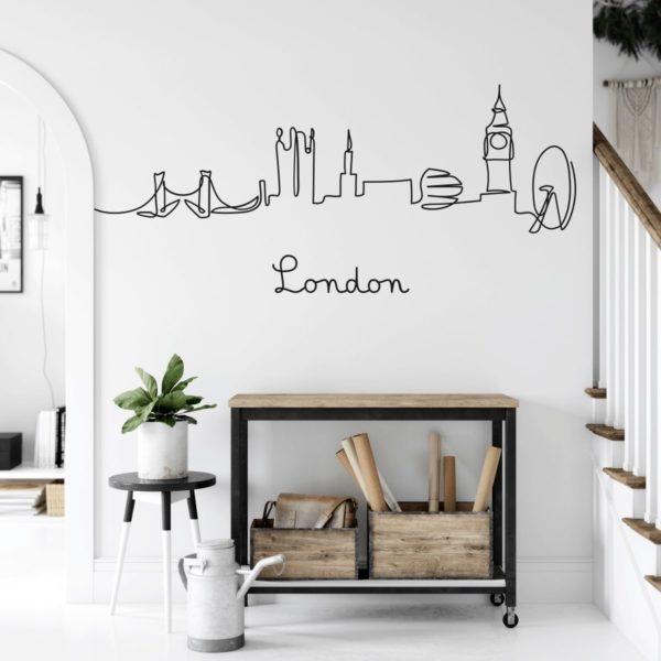 adesivo-murale-skyline-londra-1