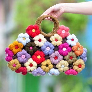 borsa floreale colorata
