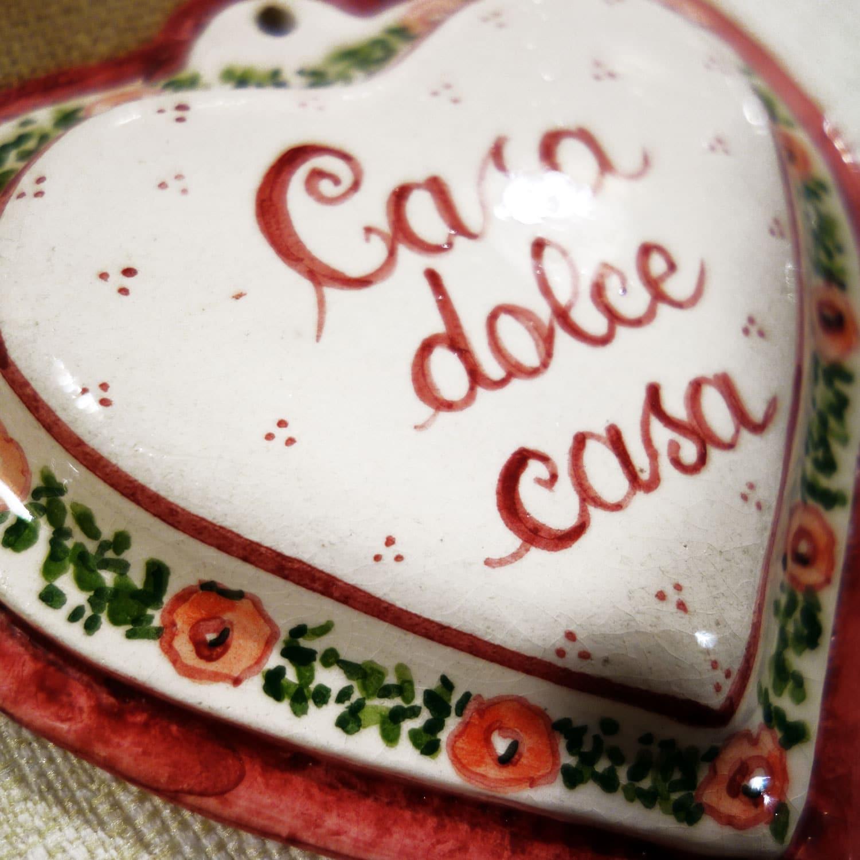 Cuore in ceramica casa dolce casa personalizzabile olalla for Casa dolce