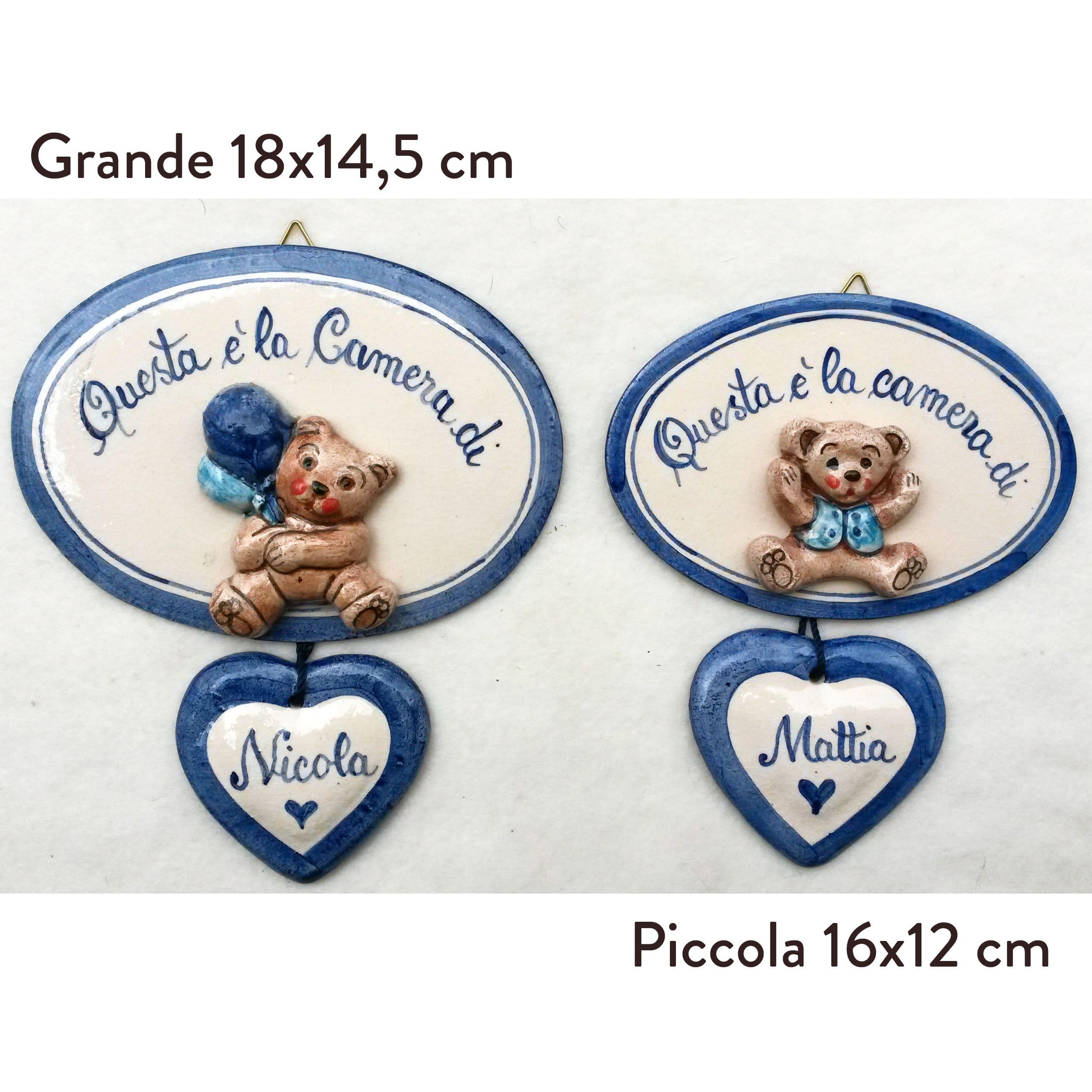 """Favoloso Targhetta con il Nome per Cameretta Bambino in Ceramica """"Questa é  FC03"""