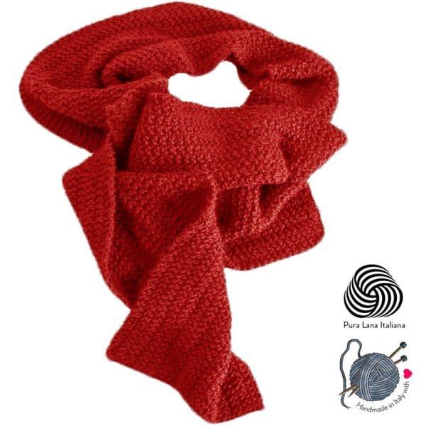 sciarpa-fatta-a-mano-lana-rossa