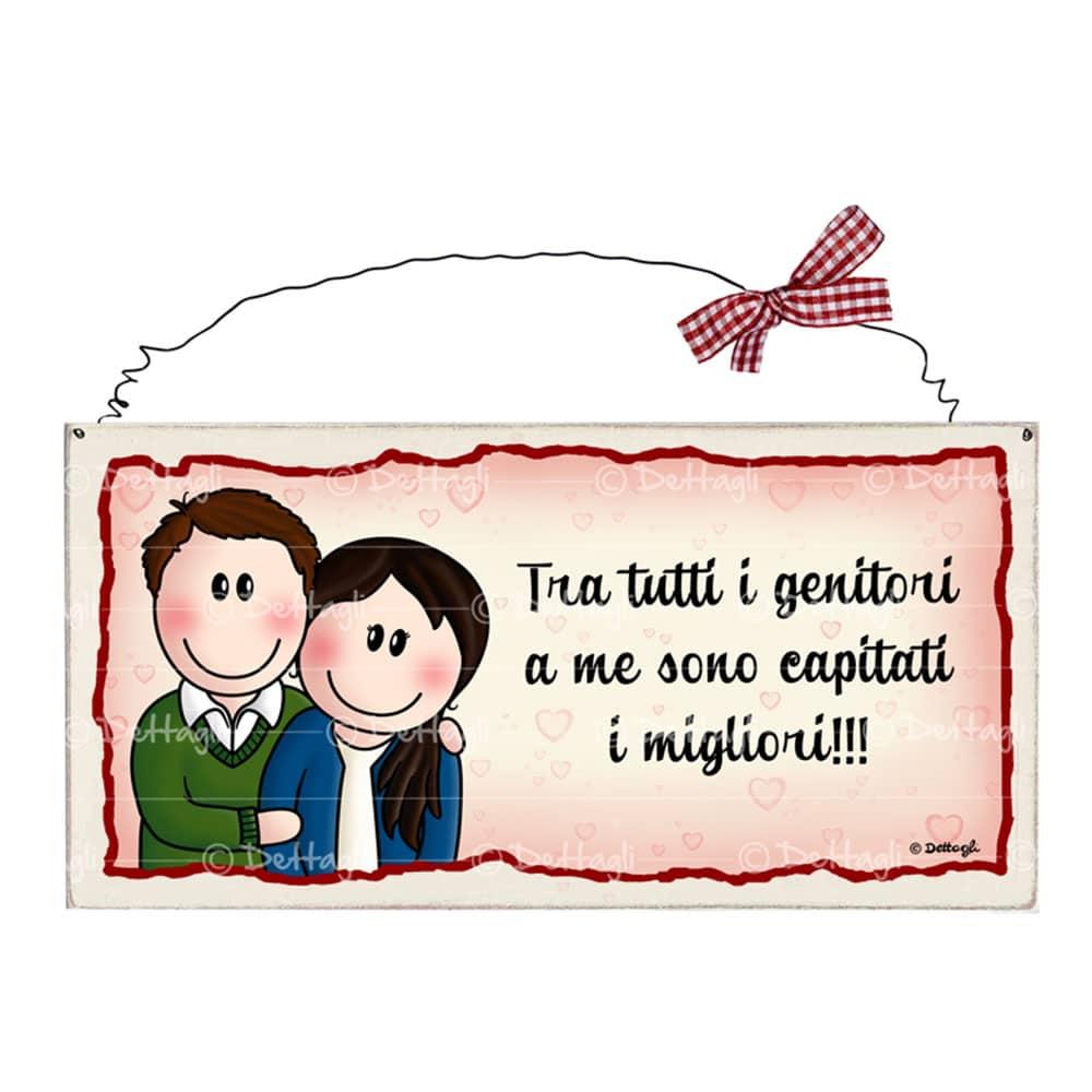 Frasi Anniversario Di Matrimonio Per Genitori.Targhetta Personalizzabile Per Genitori Tra Tutti I Genitori A Me