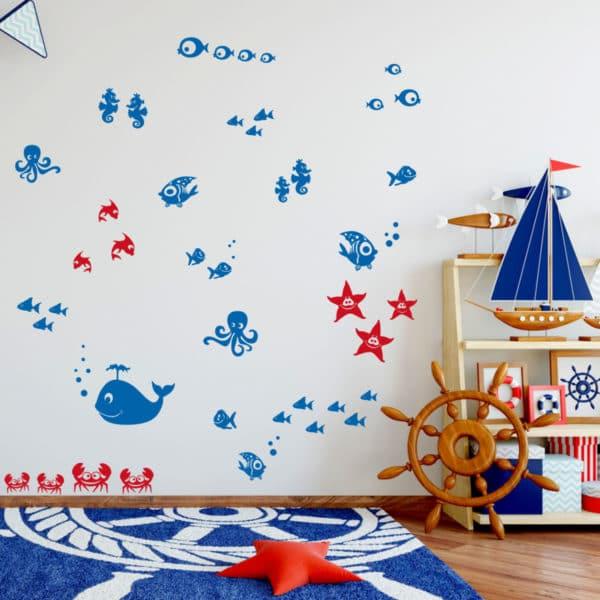 adesivo-murale-pesciolini-cameretta-bambino