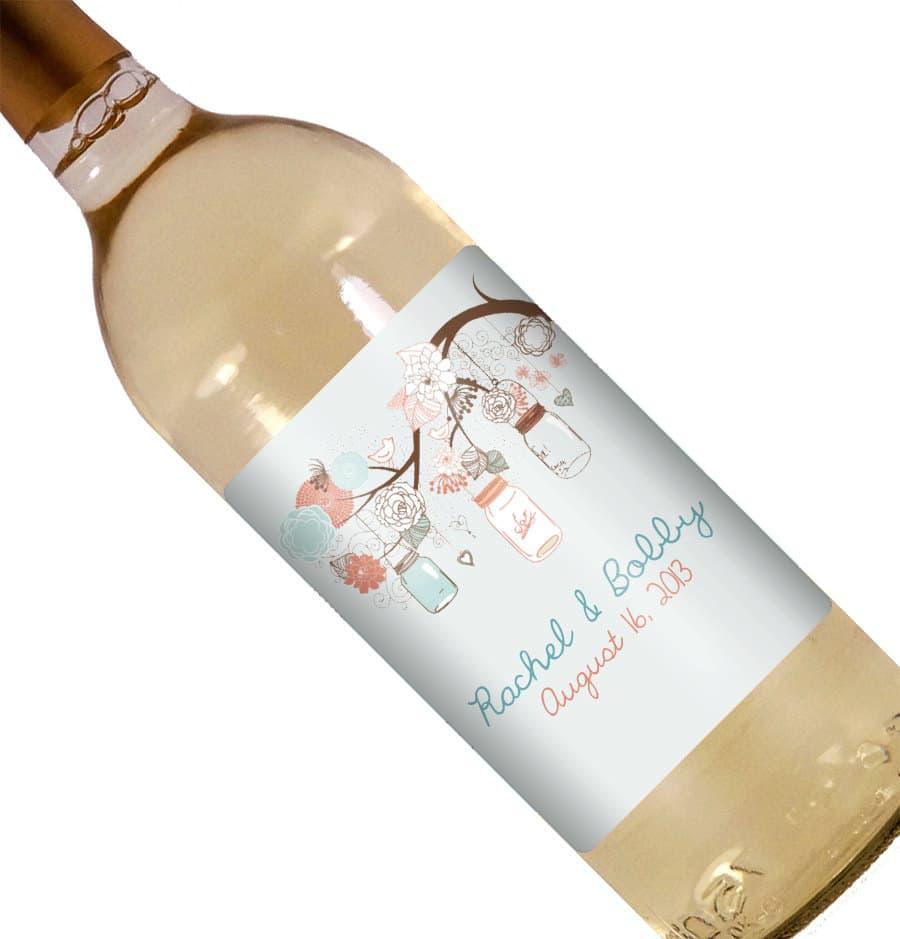 Auguri Matrimonio Vino : Bottiglie di vino con etichette personalizzate idea