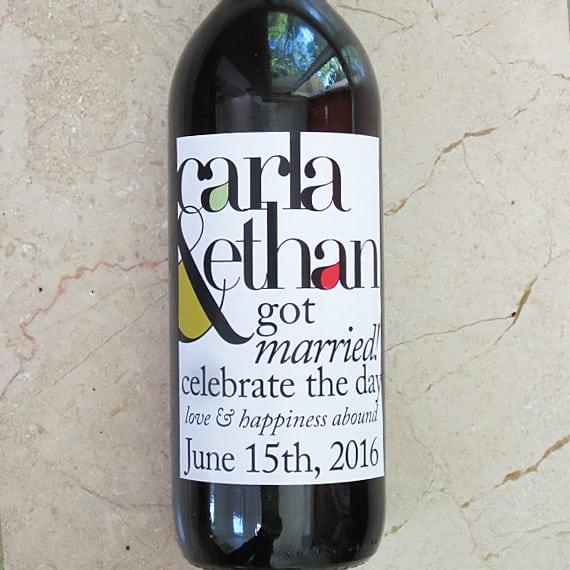 Favoloso Bottiglie di Vino con Etichette Personalizzate - Idea Bomboniera  ER19