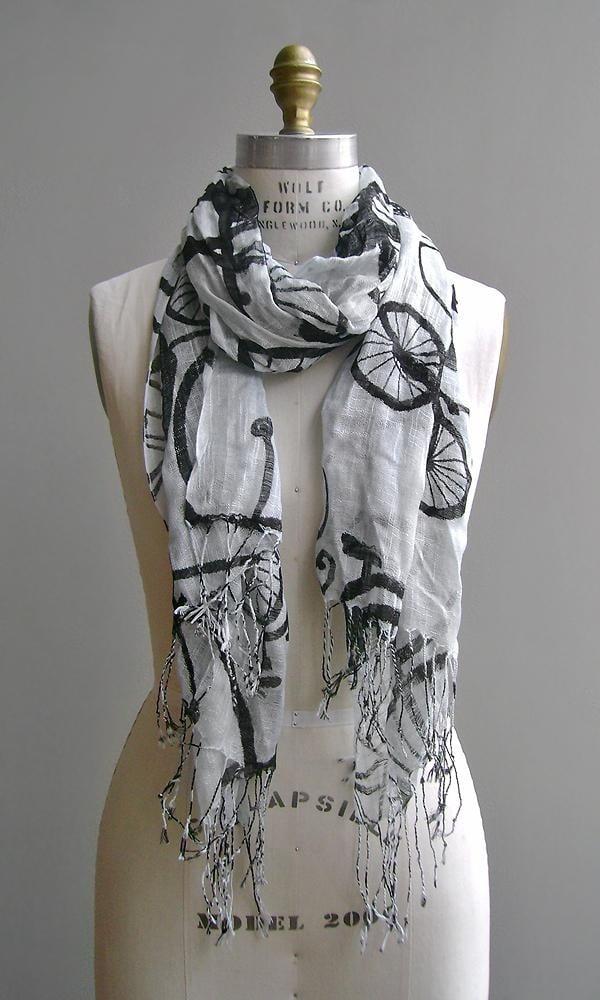 foulard con biciclette