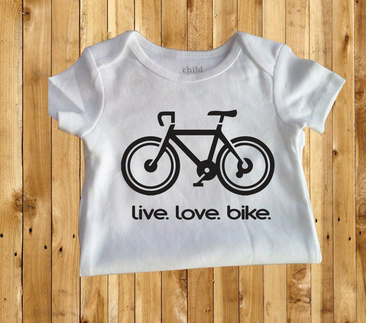 maglietta con bicicletta