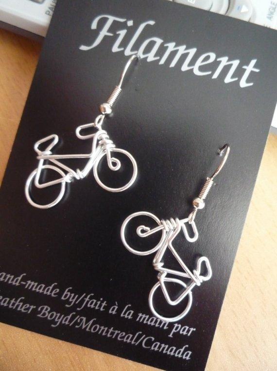 orecchini con biciclette