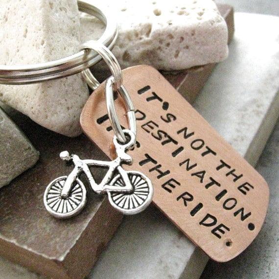 portachiavi con bicicletta
