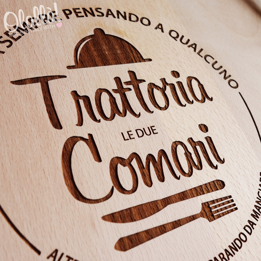 Taglieri personalizzati alta qualit made in italy for Cucina logo