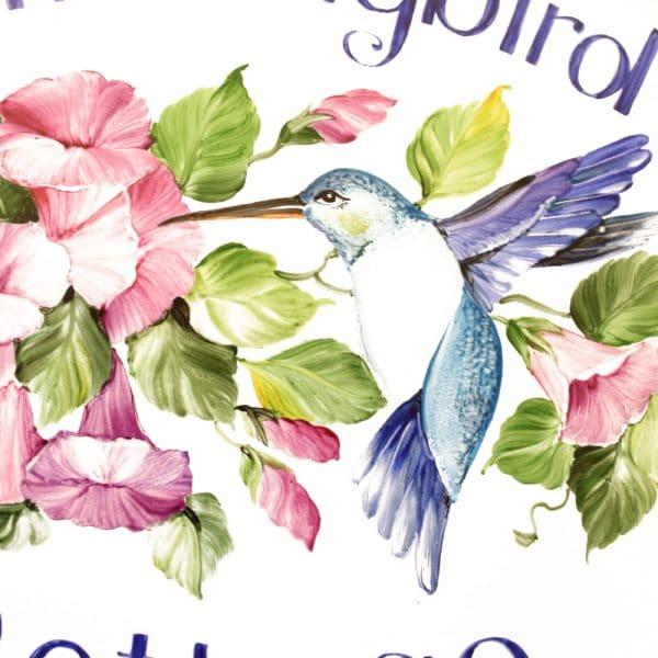 targa fiori colibri3