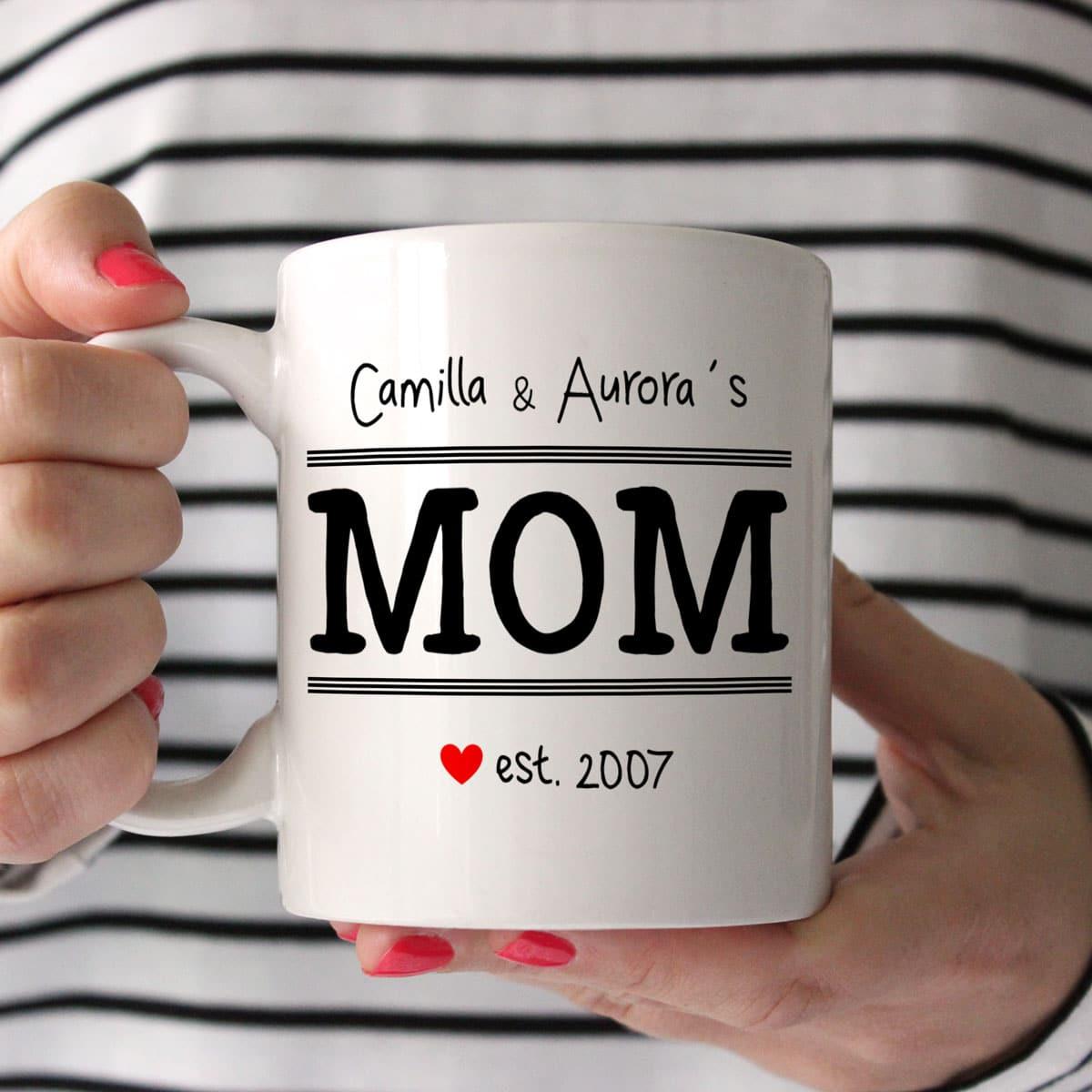 Tazza personalizzata per la mamma mom established in for Tazze da regalare a natale