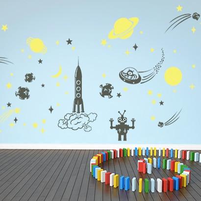 adesivi-murali_Astronavi-e-pianeti_grande
