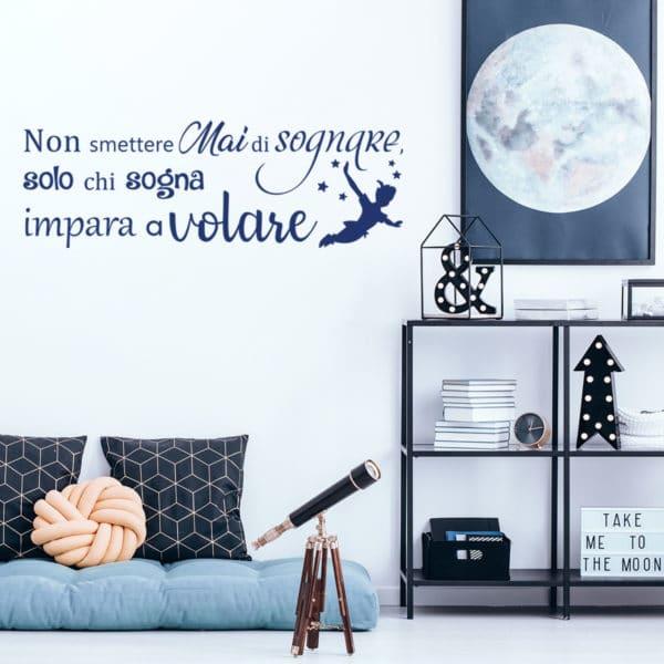 adesivo-murale-peter-pan-non-smettere-di-sognare