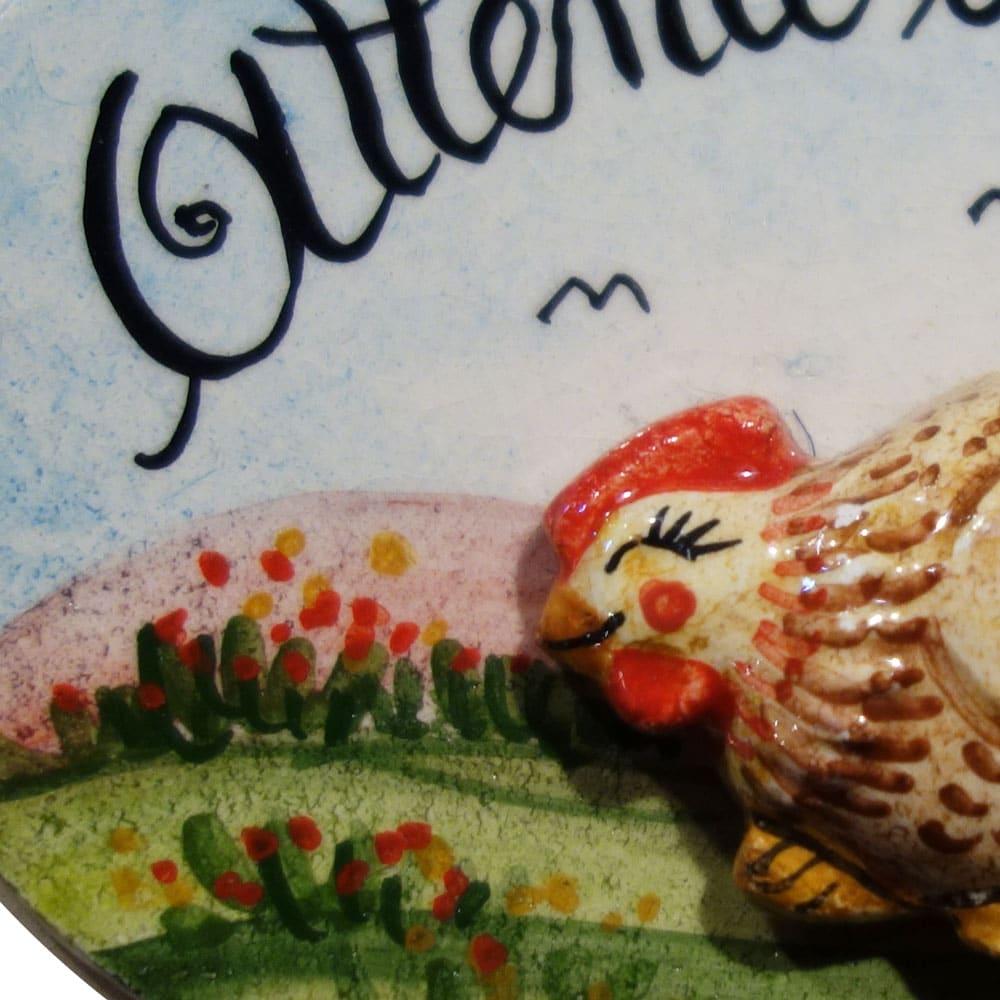 targhetta-attenti-alle-galline