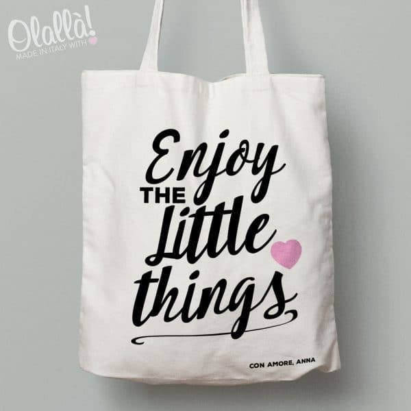 borsa-shopper-personalizzata-enjoy-little-things-bianca