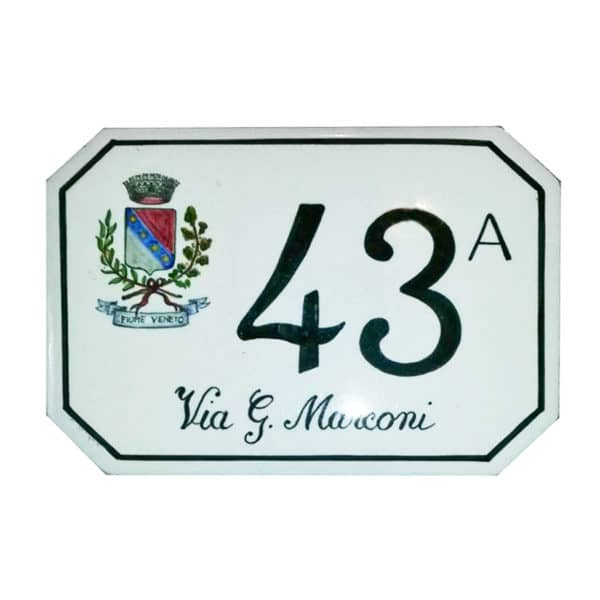 numero-civico-stemma-dipinto-mano-ottagonale