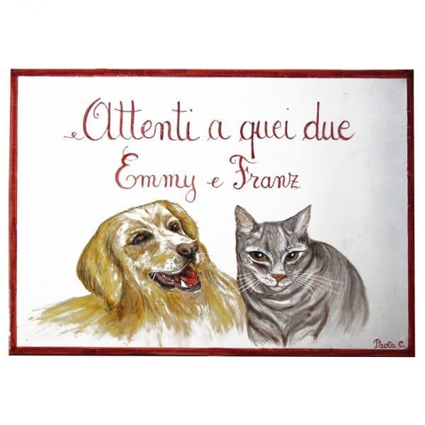 targa-attenti-al-cane-ritratto-personalizzato-gatto