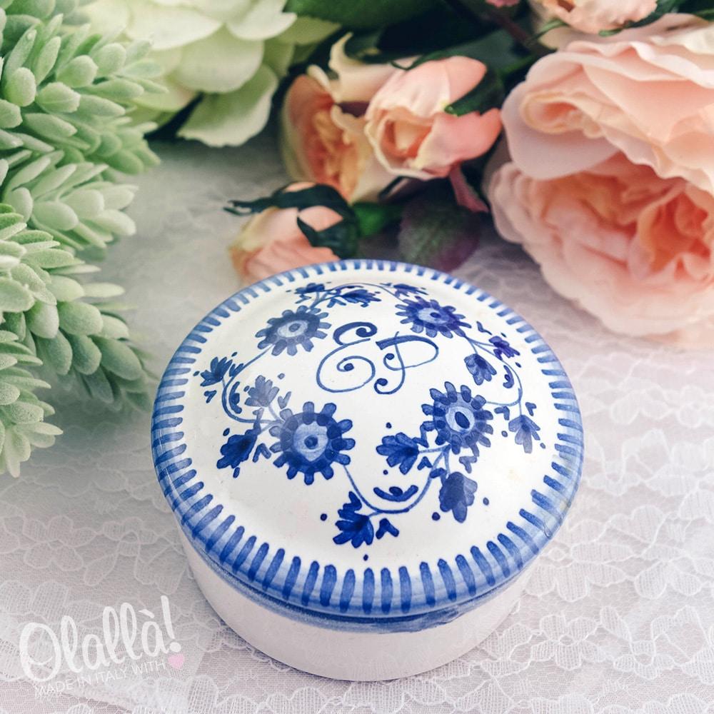 bomboniera-portagioie-ceramica-personalizzata-monogramma-tonda