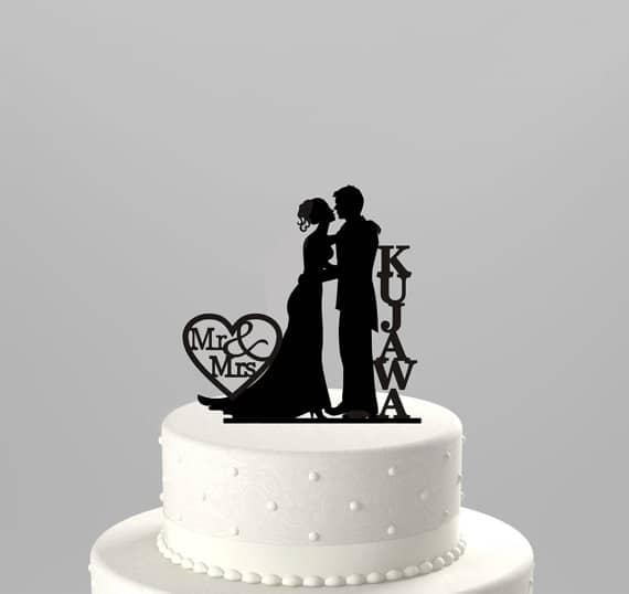 cake-topper-matrimonio-legno-silhouette