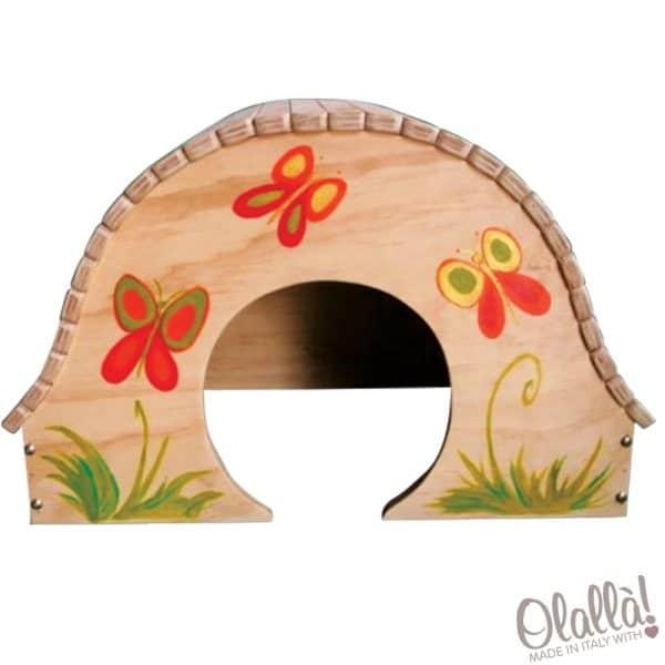 casetta-legno-decorata-papillon
