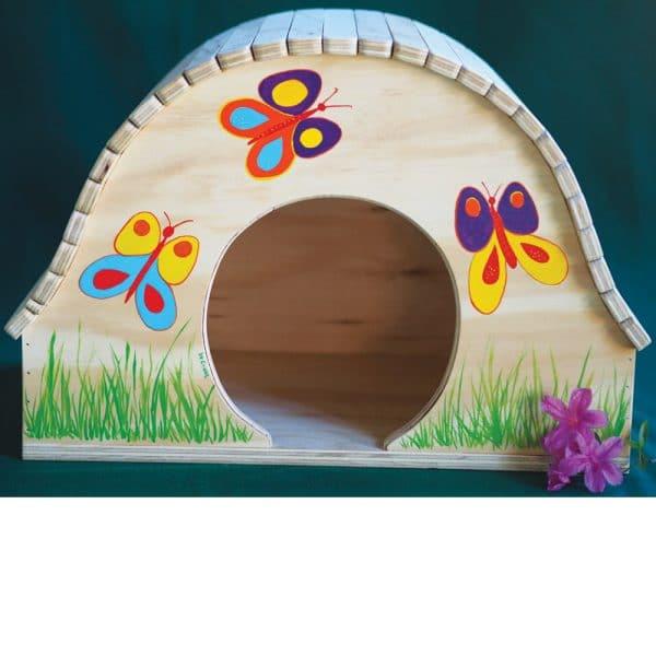 casetta-papillon-dipinta-mano-gatti-farfalle