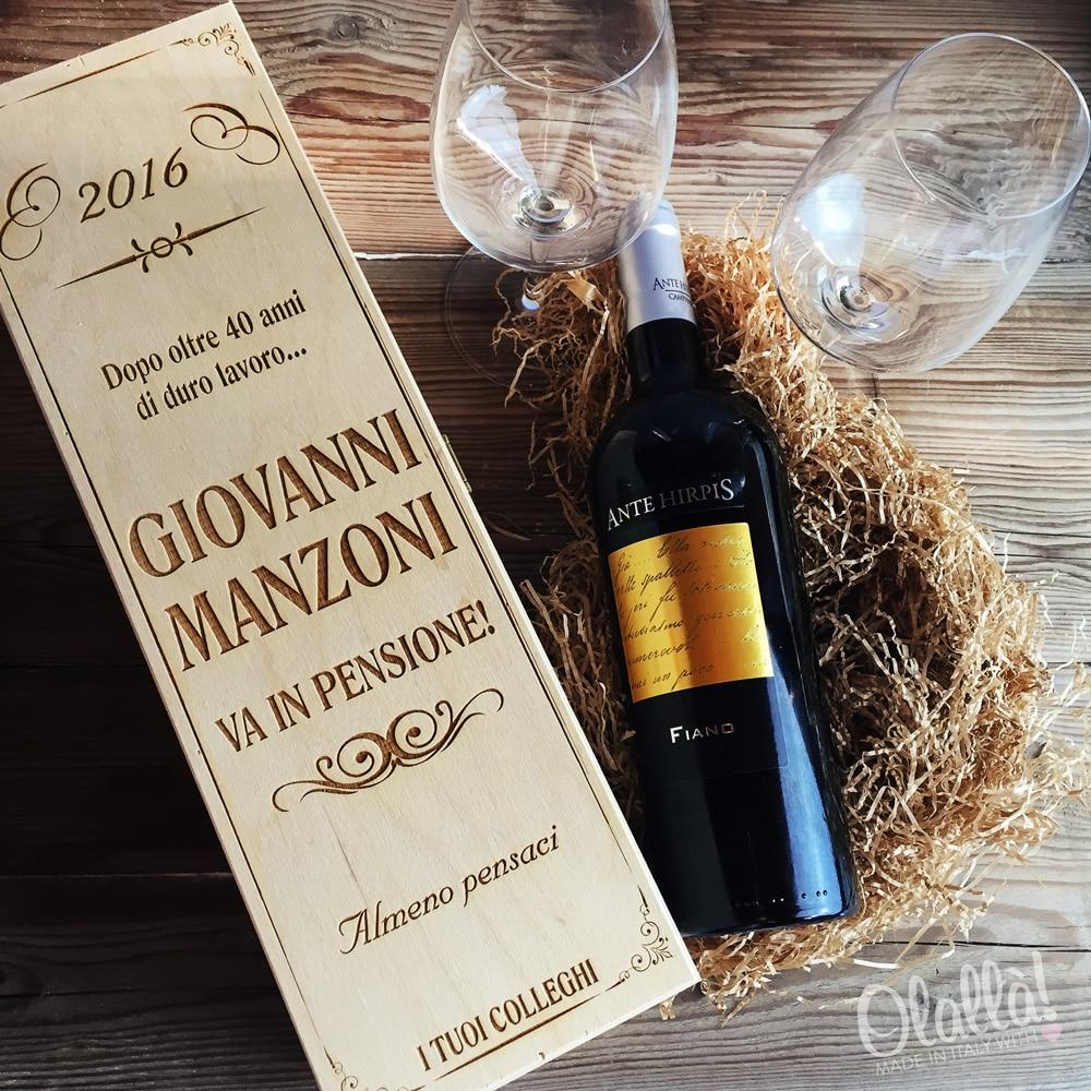 Cassettina porta vino in legno personalizzata idea regalo - Porta vino legno ...