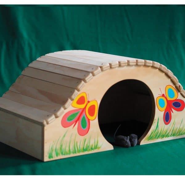 cuccia-per-gatti-decorata-fiorellini-papillon