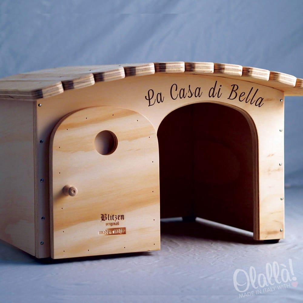 Cuccia di legno personalizzabile con il nome per gatti e - Lettere stampabili di medie dimensioni ...