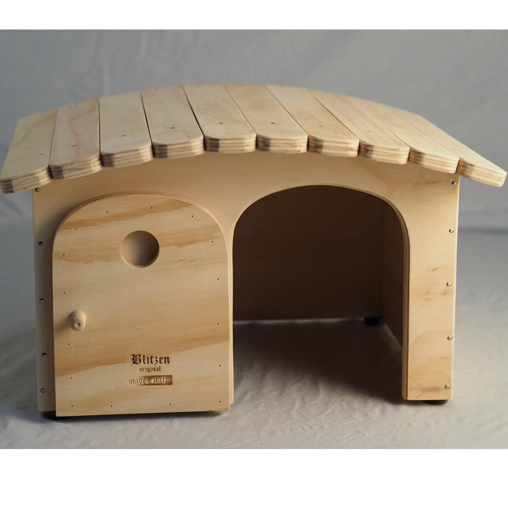 Cuccia di legno personalizzabile con il nome per gatti e cani da interno ed esterno con tetto - Cuccia per cani interno ...