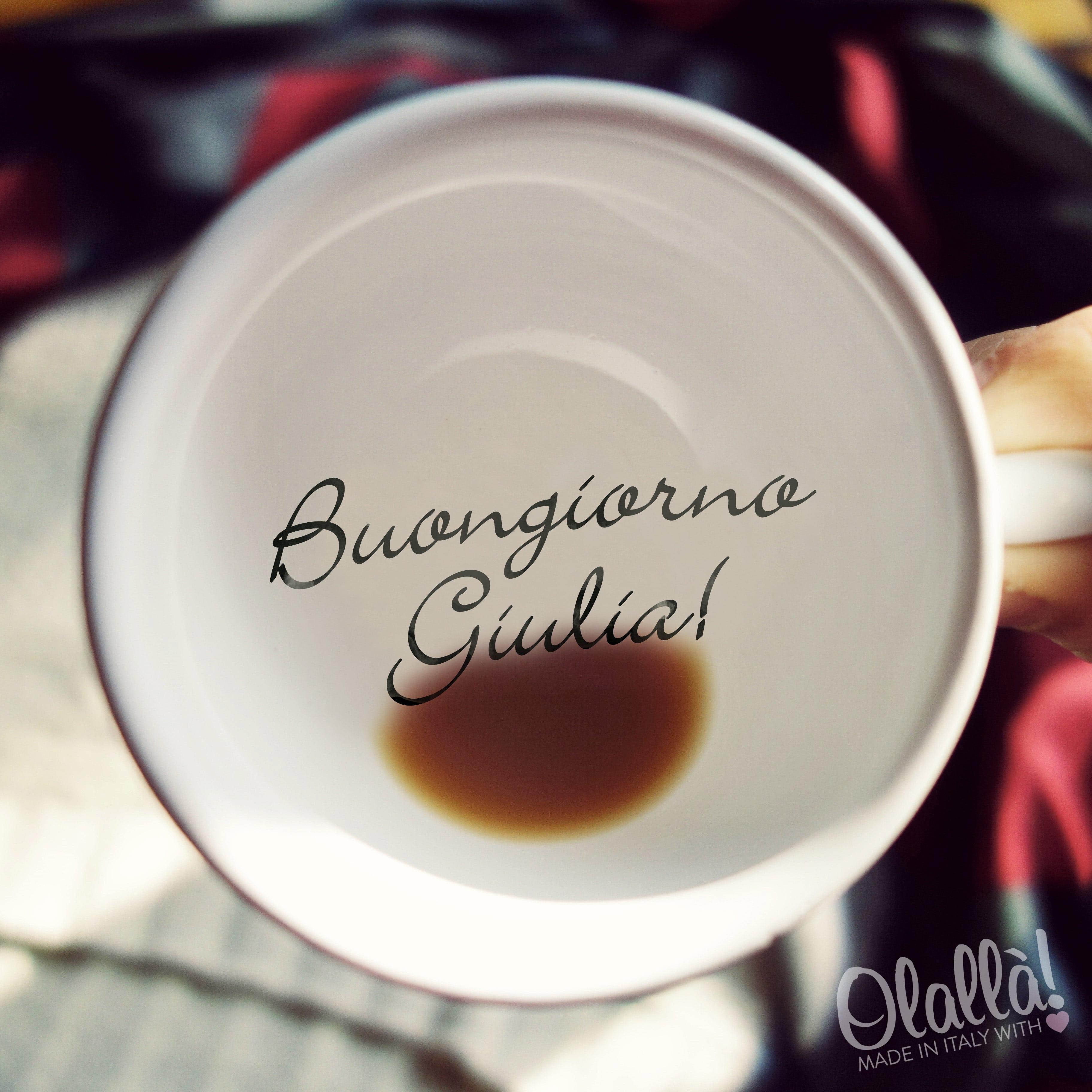 Tazzina da caff o t cappuccino personalizzata con for Foto per il buongiorno