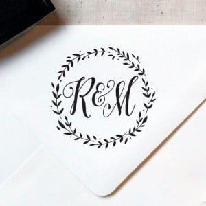 Timbro personalizzato matrimonio con monogramma