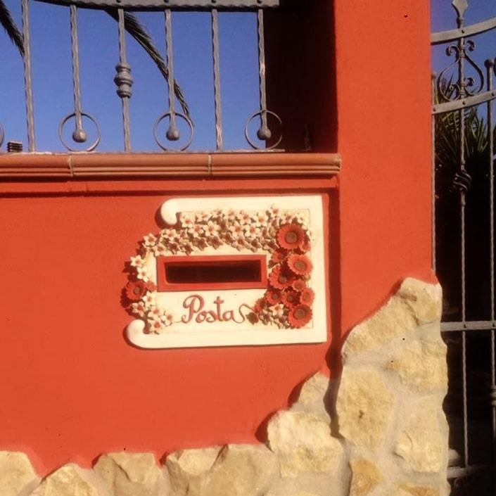 Cassetta Buca Della Posta Targa In Ceramica Per Muro Esterno Olalla