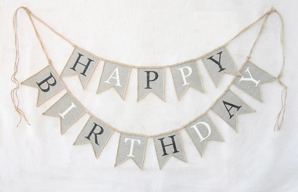 Festoni compleanno con bandierine scritta personalizzata