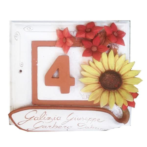 numero-civico-fiori-girasole-ceramica-dipinto-mano