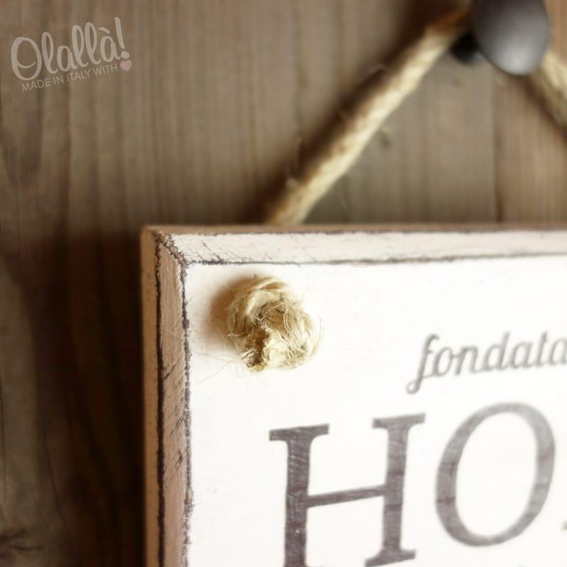 Targhetta in legno vintage personalizzata meglio fatto for Nomi in legno da appendere