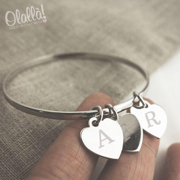 braccialetto-argento-3cuoricini-incisi-iniziale2