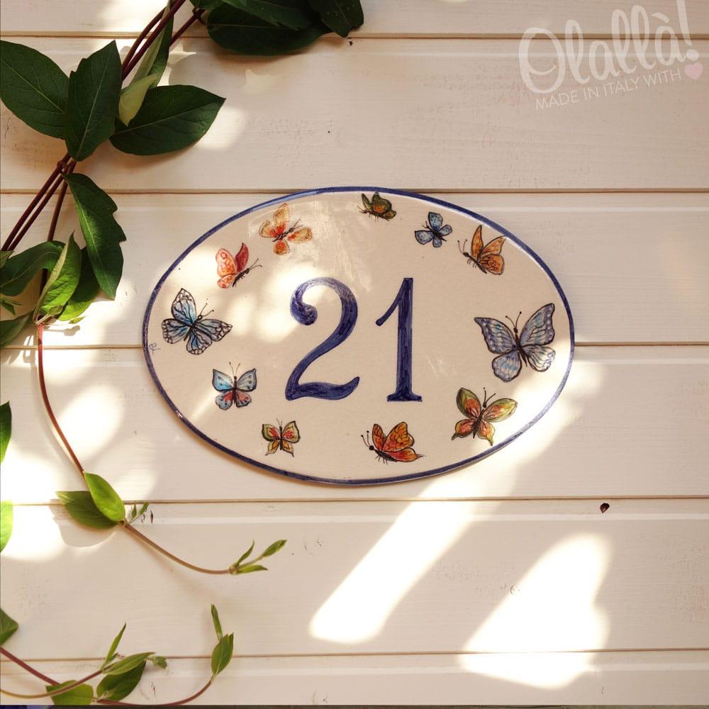 numero-civico-ovale-decoro-farfalle4