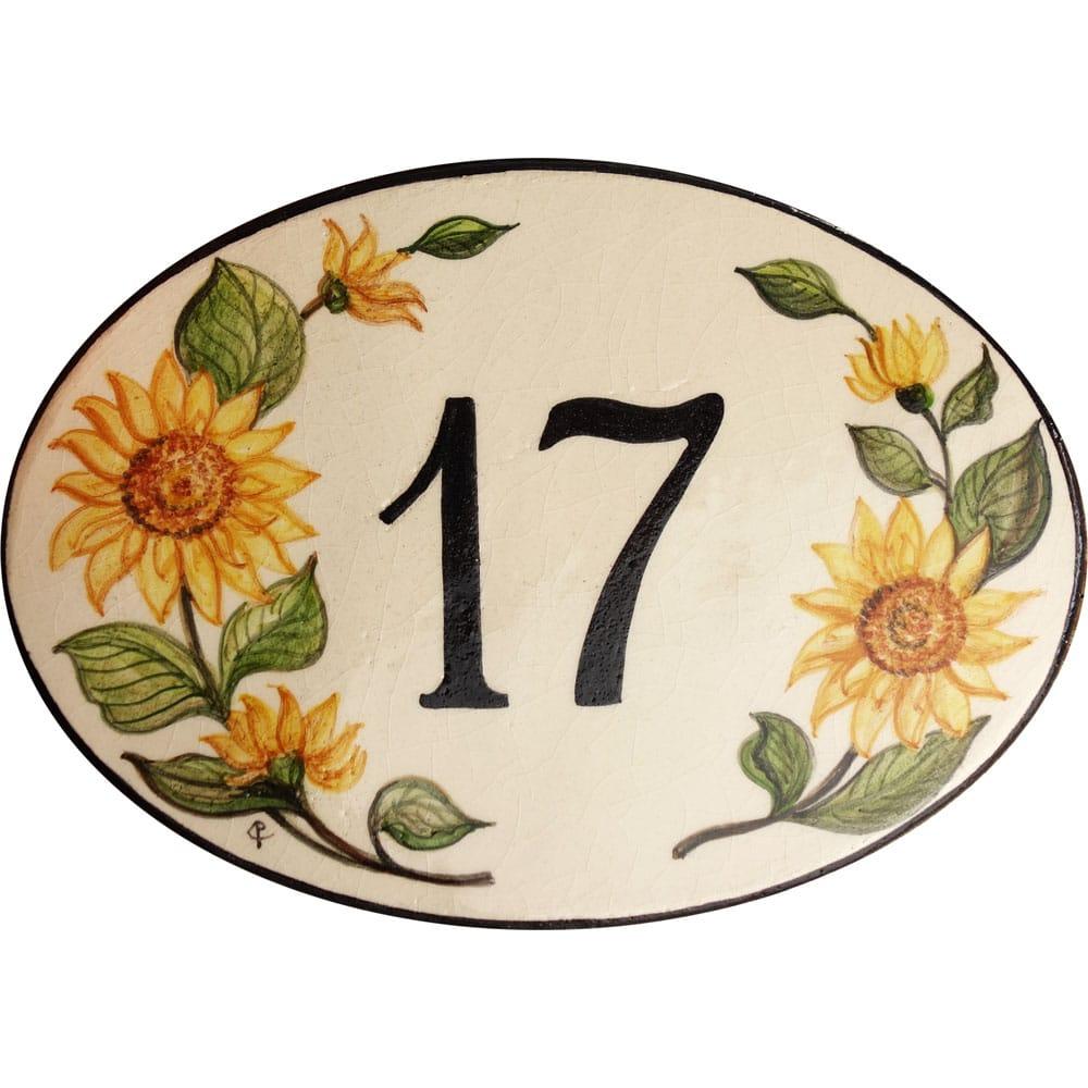 numero-civico-ovale-decoro-girasoli11
