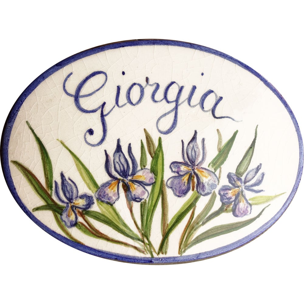 numero-civico-ovale-decoro-iris