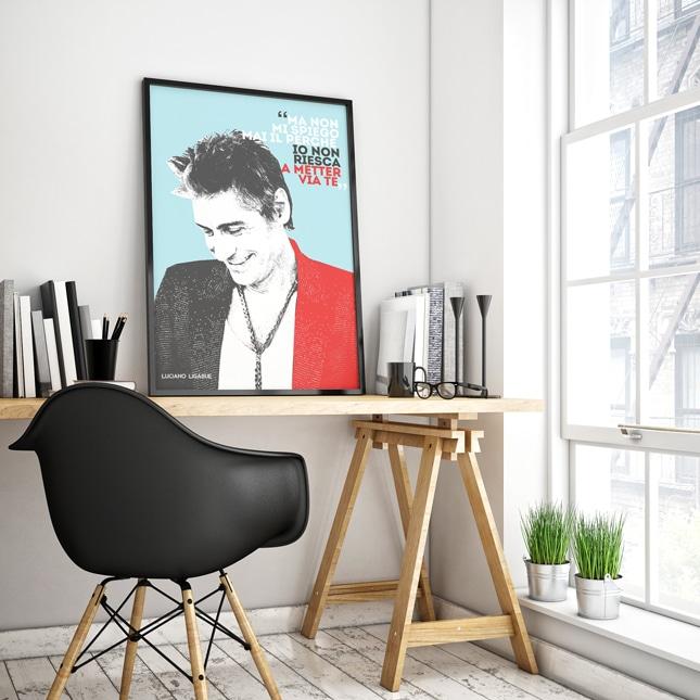 Favoloso Poster Personalizzabile Idea Regalo Fan di Luciano Ligabue | Olalla WN74