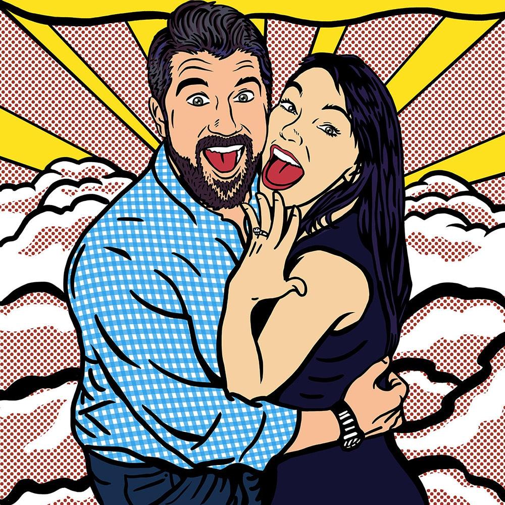 ritratti su commissione regalo fidanzamento sposi