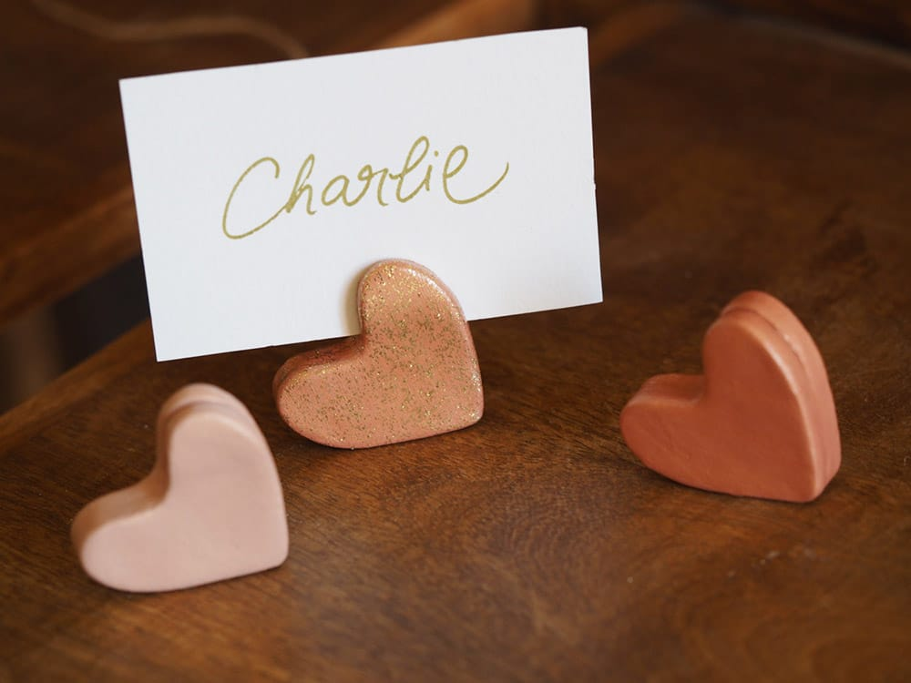 Favoloso segnaposto matrimonio originali cuore gessetti | Olalla ZZ19